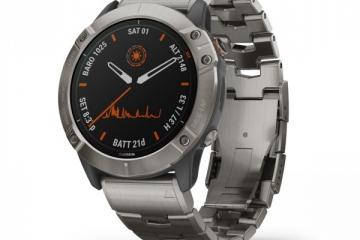 ساعت گارمين Fenix 6X Pro Solar titanium vented titanium bracelet موجود شد