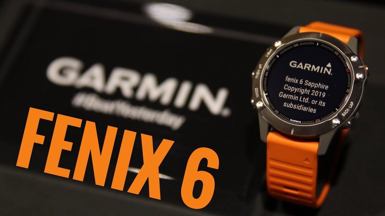 ساعت گارمين فنيکس 6 سافاير بدنه تيتانيوم بند نارنجي پرتقالي سيليکوني Fenix 6 Sapphire Titanium With Orange  Silicone Band